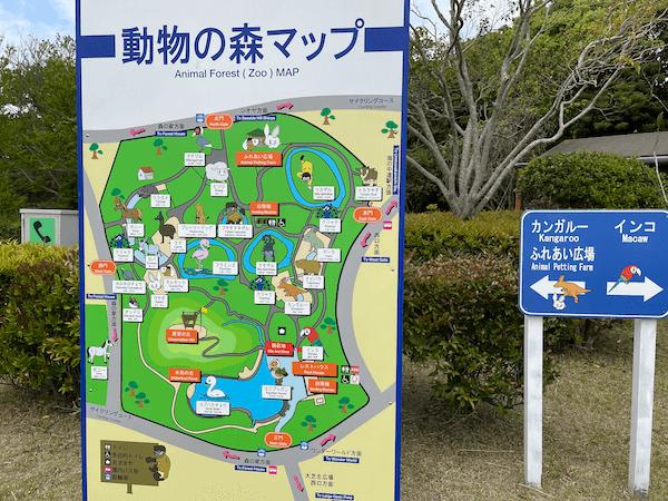 動物の森の地図